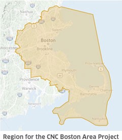 Region for CNC Boston Area Project