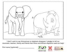 96Elephants Coloringsheet